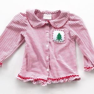 Smocked Christmas Top Girls Smocked Auctions Tree